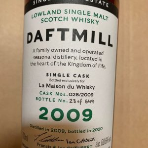 Daftmill 2009 11 years old Single Cask 2009 for LMDW – Original bottling – b. 2020 – 70cl