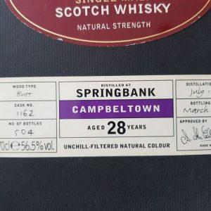 Springbank 1974 28 years old Chieftain's – Ian MacLeod – b. 2003 – 700ml