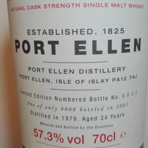 Port Ellen 1979 24 years old 3rd Release – Original bottling – 70cl