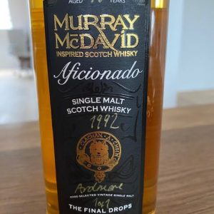 Ardmore 1992 18 years old Final drops – bottle no. 1 of 1 – Murray McDavid – 70cl