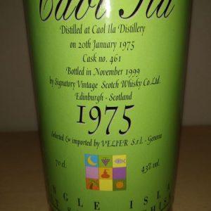 Caol Ila 1975 Cask no. 461 – Velier – b. 1999 – 700ml