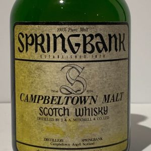 Springbank 8 years old Cask no. 4626 – Original bottling – b. 1980s – 750ml