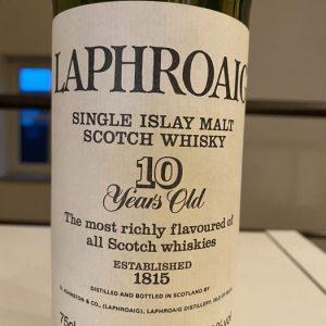 Laphroaig 10 years old – Original bottling – b. 1980s – 75cl
