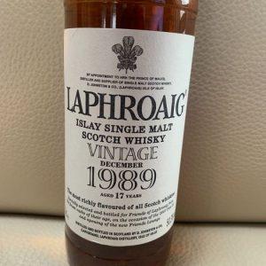 Laphroaig 1989 17 years old – Original bottling – 70cl