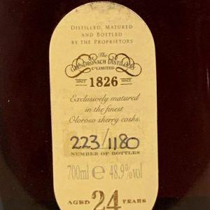 Glendronach 24 years old Grandeur Batch no. 006 – Original bottling – 700ml