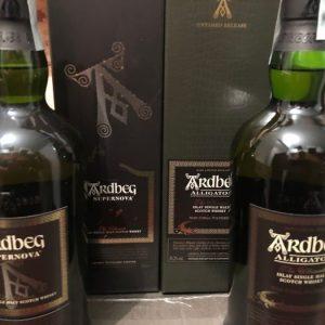 Ardbeg Alligator and Supernova – Original bottling – 700ml – 2 bottles