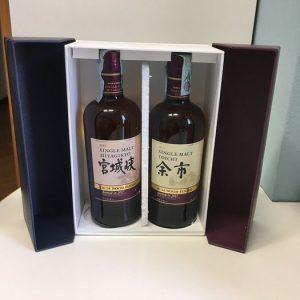Nikka Yoichi Rum Wood Finish & Miyagikyo Rum Wood Finish – Original bottling – b. 2017 – 70cl – 2 bottles