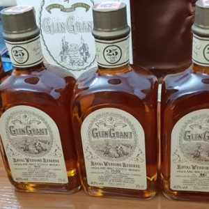 Glen Grant 25 years old Royal Wedding Reserve – Original bottling – b. 1980s – 75cl – 3 bottles