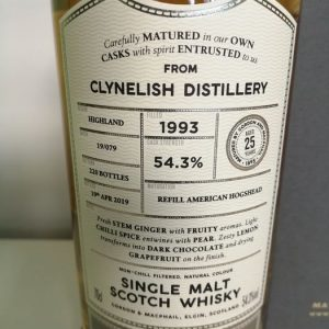 Clynelish 1993 25 years old – Connoisseurs Choice – One Of 220 – Gordon & MacPhail – 70cl
