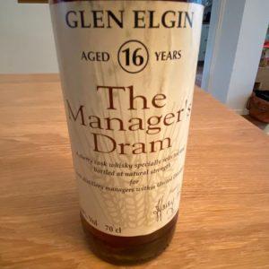 Glen Elgin 16 years old The Manager's Dram – Original bottling – b. 1993 – 70cl