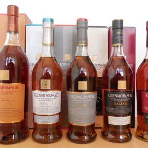"""Glenmorangie Complete """"Private Collection"""" – Original bottling – 1,0 L & 700 ml – 10 bottles"""