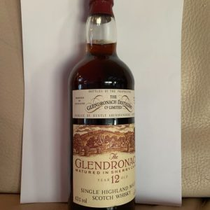 Glendronach 12 years old Matured in Sherry casks – Original bottling – b. 1980s – 75cl