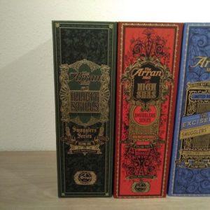 Arran Smugglers' Series Volume I, II & III – Original bottling – 700ml – 3 bottles