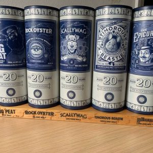 Big Peat, Rock Oyster, Scallywag, Timorous Beastie, Epicurean 20 years old The Dutch Editions – Douglas Laing – b. 2000s to today – 70cl – 5 bottles