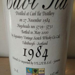 Caol Ila 1984 years old – Velier Import – b. 2000 – 70cl