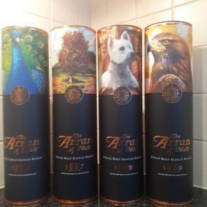 Arran 1996 Icons of Arran Series – Original bottling – 700ml – 4 bottles