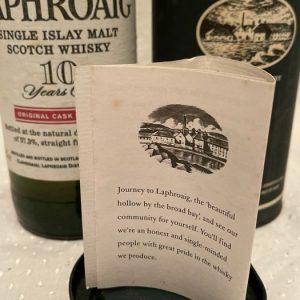 Laphroaig 10 years old Red Stripe Original Cask Strength – Original bottling – b. 1990s – 70cl