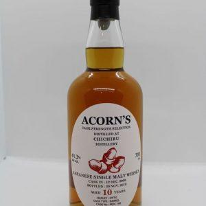 Chichibu 2008 10 years old Cask no. MDC 196 for Acorn's – One of 154 – Original bottling – b. 2019 – 700ml
