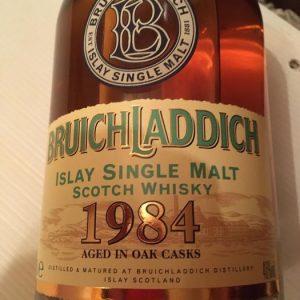 Bruichladdich 1984 – Original bottling – b. 2002 – 70cl