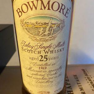 Bowmore 1969 25 years old – Original bottling – 70cl