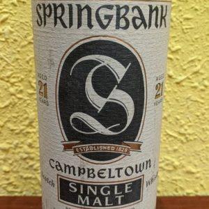 Springbank 21 years old 'stamp shaped label' – Original bottling – b. 1990s – 70cl