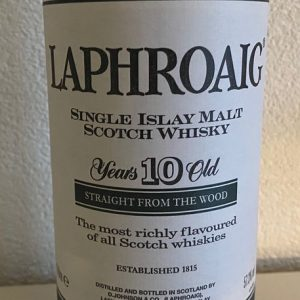 Laphroaig 10 years old – Original bottling – b. 1990s – 1.0 Litre