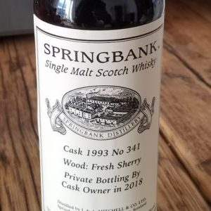 Springbank 1993 Fresh Sherry – Original bottling – b. 2018 – 700ml