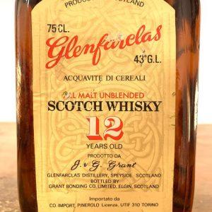 Glenfarclas 12 years old All Malt Unblended – Original bottling – b. 1970s – 75cl