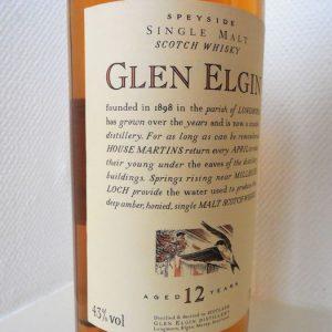 Glen Elgin 12 years old Flora & Fauna – Original bottling – 70cl