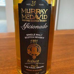 Ardbeg 1991 20 years old Final drops – bottle no. 10 of 12 – Murray McDavid – 70cl