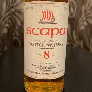 Scapa 8 years old – Sestante import – Gordon & MacPhail – b. 1970s – 75cl