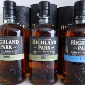 Highland Park Travel Retail 1990 – 1991 – 1994 – 1997 – 1998 – 2001 – Original bottling – 70cl / 1L – 6 bottles