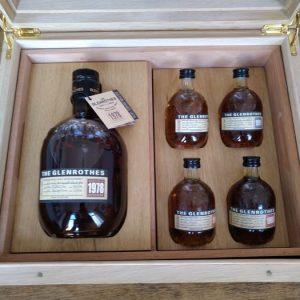Glenrothes 1978 29 years old Cigar humidor – Original bottling – 700ml – 5 bottles