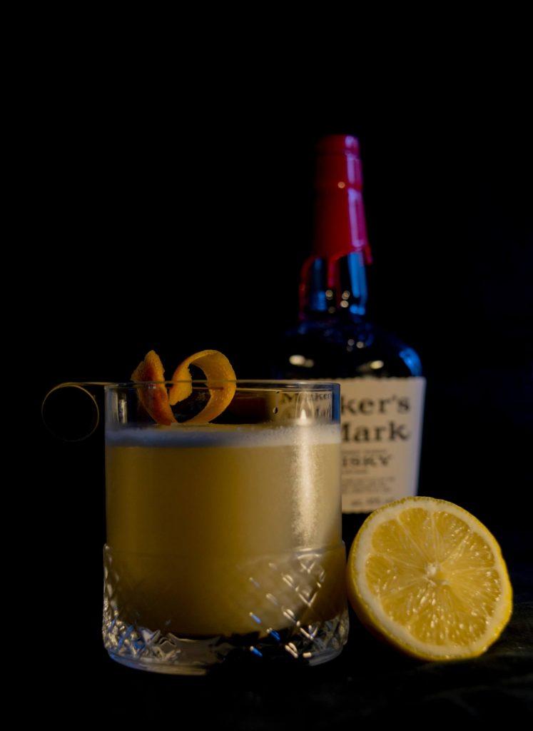 Whiskey Sour, en klassisk whiskeydrink gjord på Bourbon